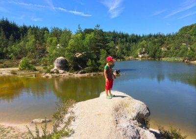 Natuurbeleving, la Bosse, zwemmen