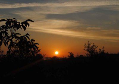 Zonsondergang op Brénazet