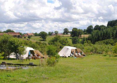 Camping Brénazet, De Waard tenten