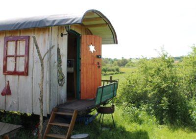 Vakantiehuis Pipowagen, camping Brénazet, Allier, hartje Frankrijk