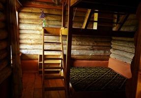 Vakantiehuis, blokhut bij de eik, bedden