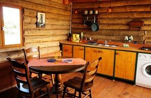 Vakantiehuis, blokhut bij de eik, keuken