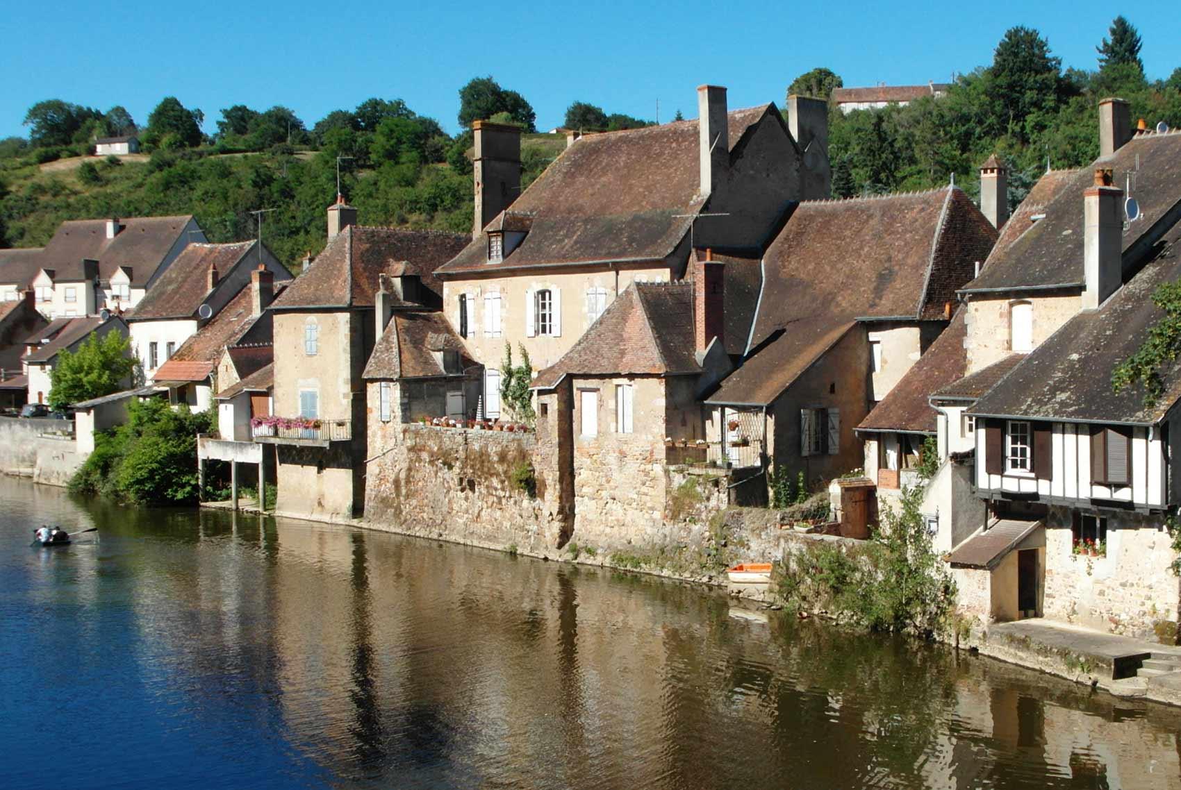 Omgeving, dorpje Herisson, Allier, Auvergne