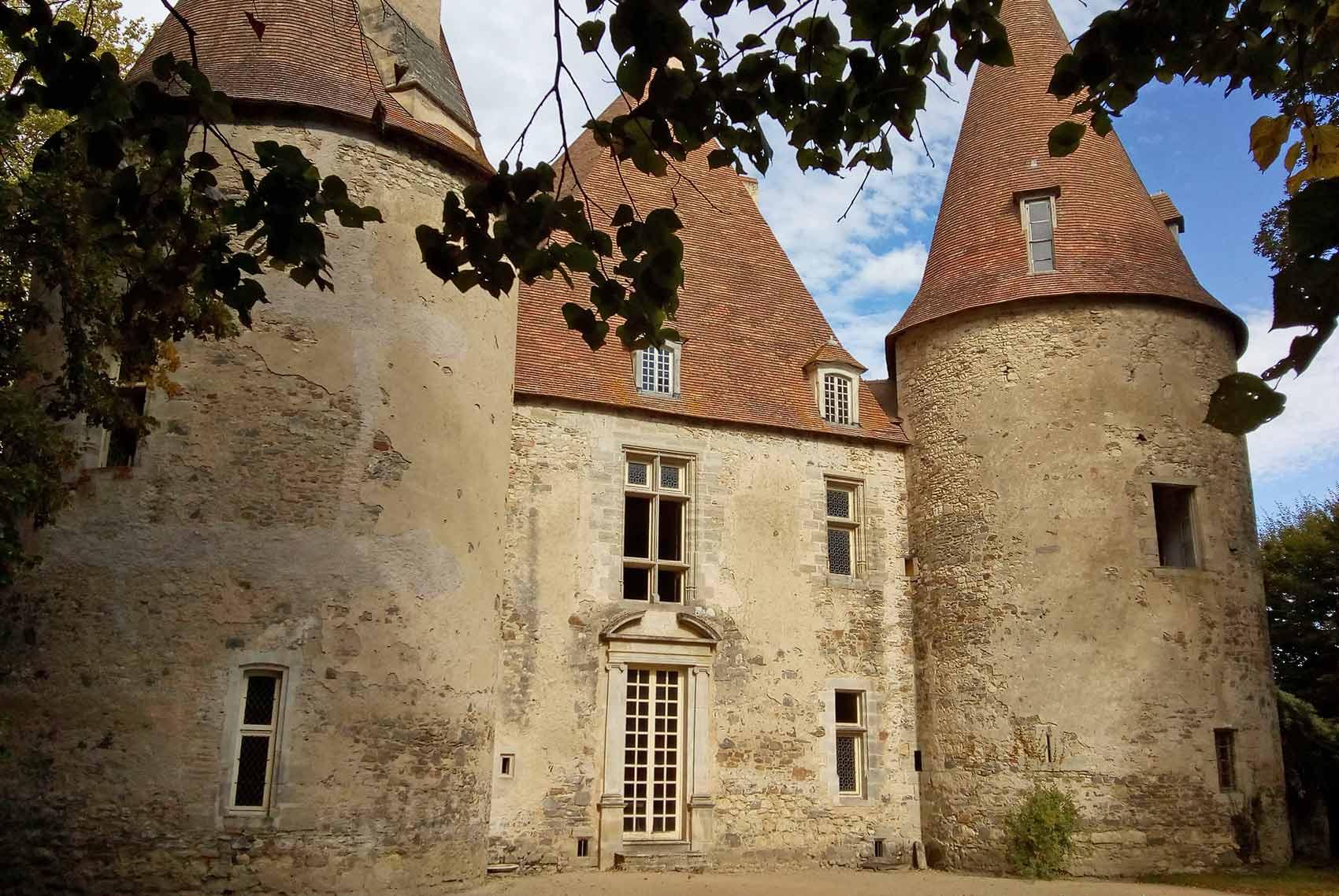 Omgeving kasteel Bellenave